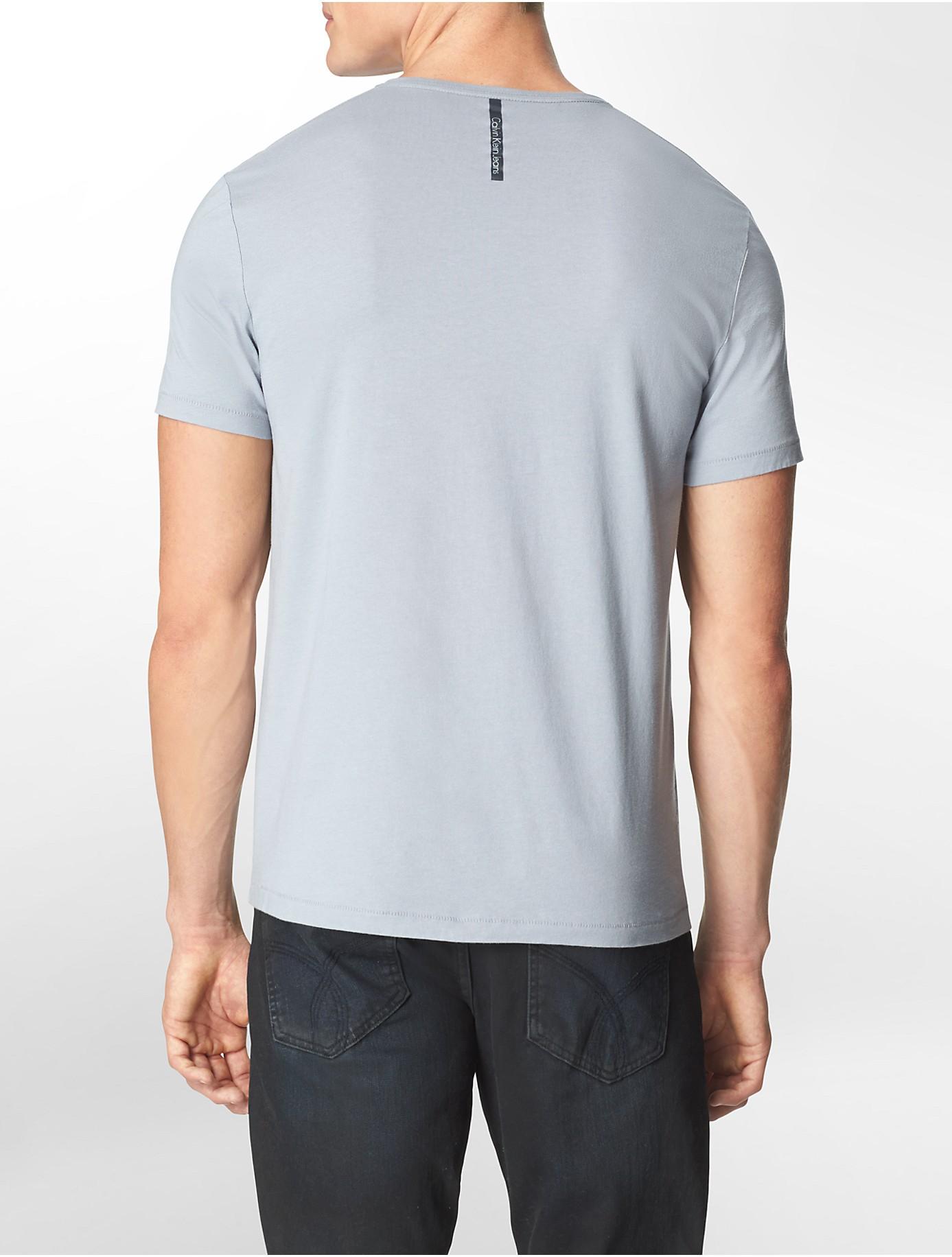 Calvin klein jeans slim fit chevron v neck cotton stretch for Calvin klein slim fit stretch shirt