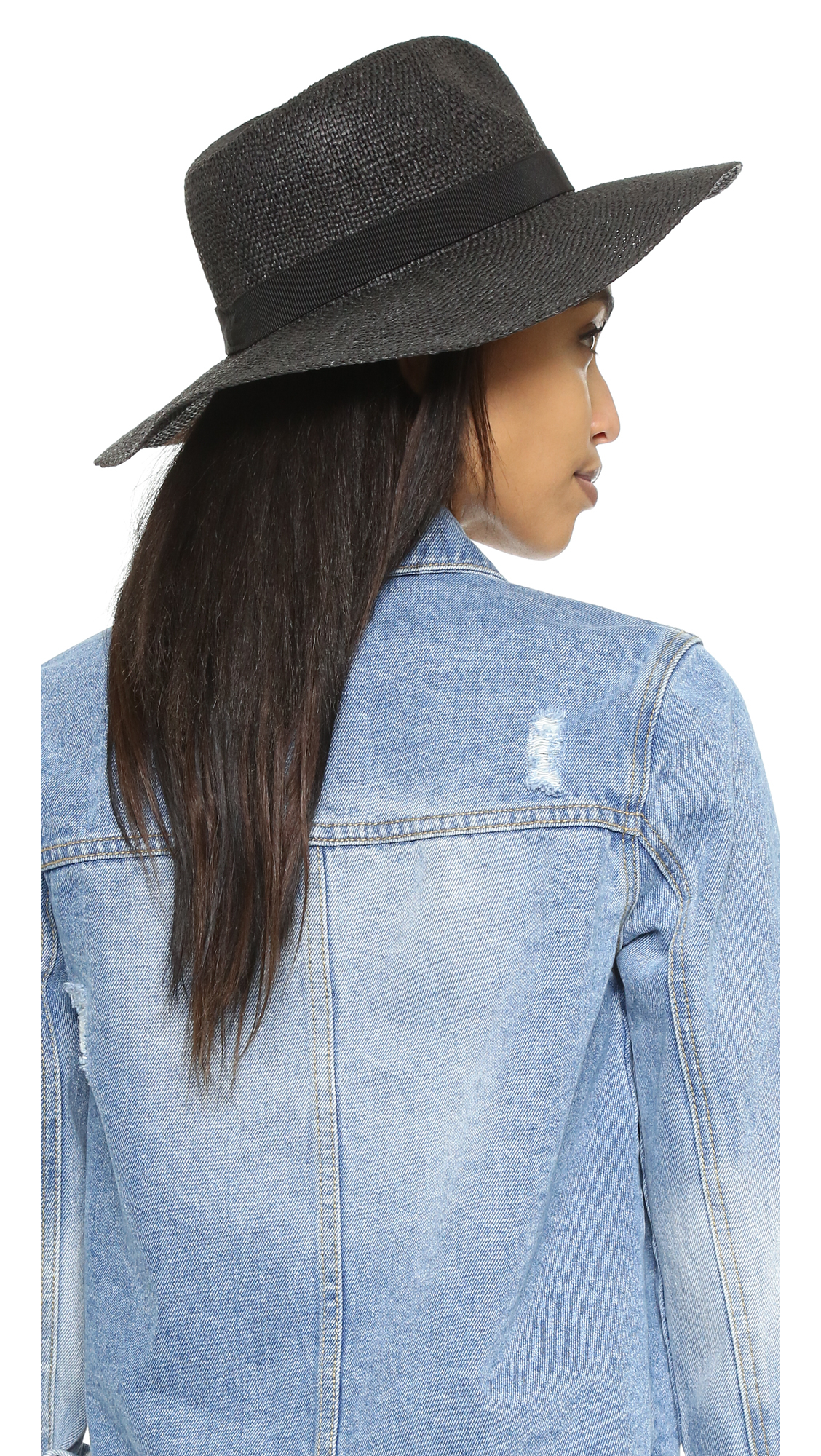 db1627ff6ec77 Madewell Packable Woven Hat in Black - Lyst