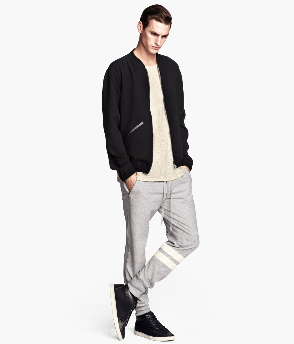 H&m Sweatpants in Gray for Men | Lyst