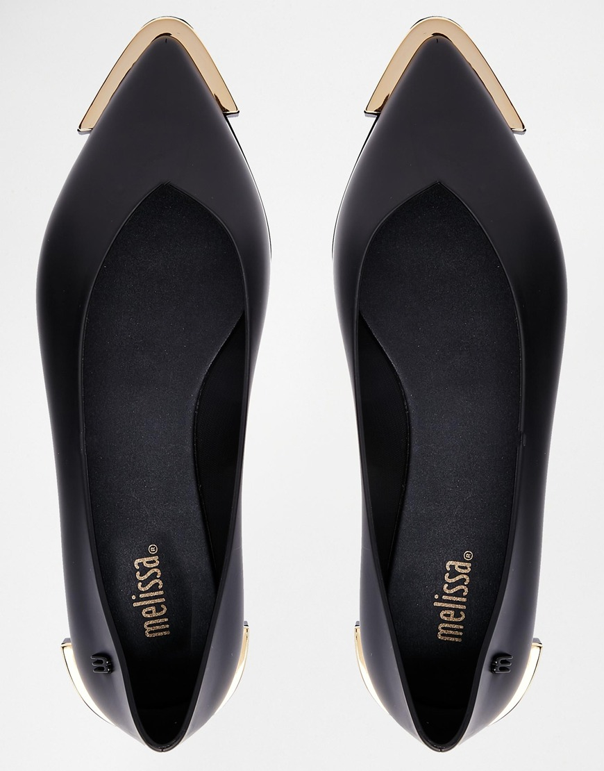 spice pointed black flat shoes in black lyst