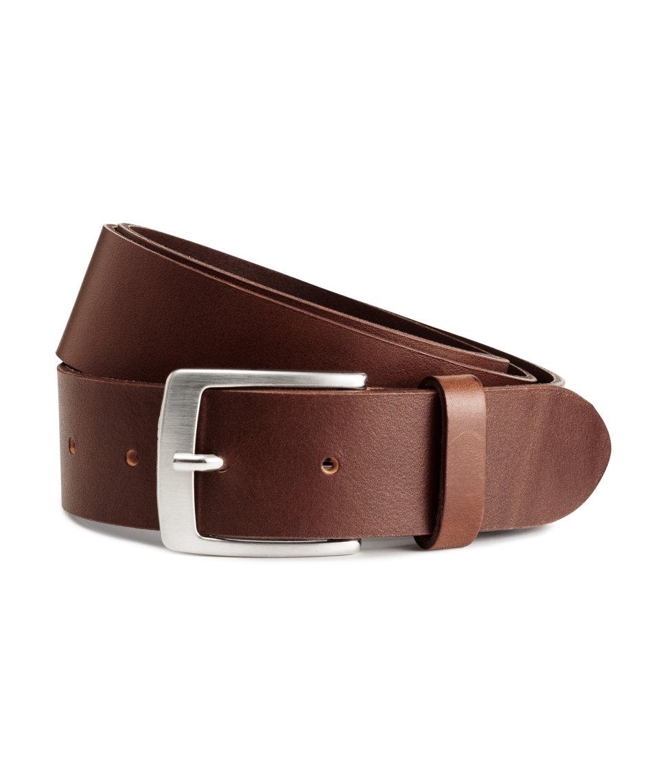 h m leather belt in brown for men lyst. Black Bedroom Furniture Sets. Home Design Ideas