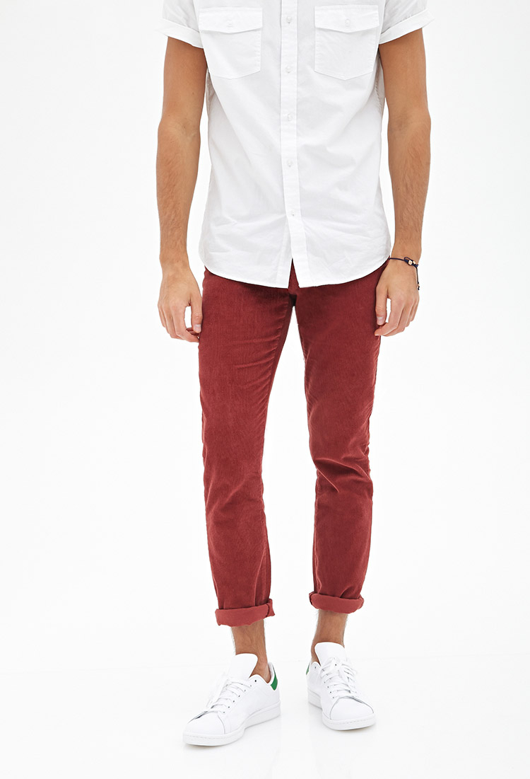 Forever 21 Classic Corduroy Pants in Purple for Men | Lyst