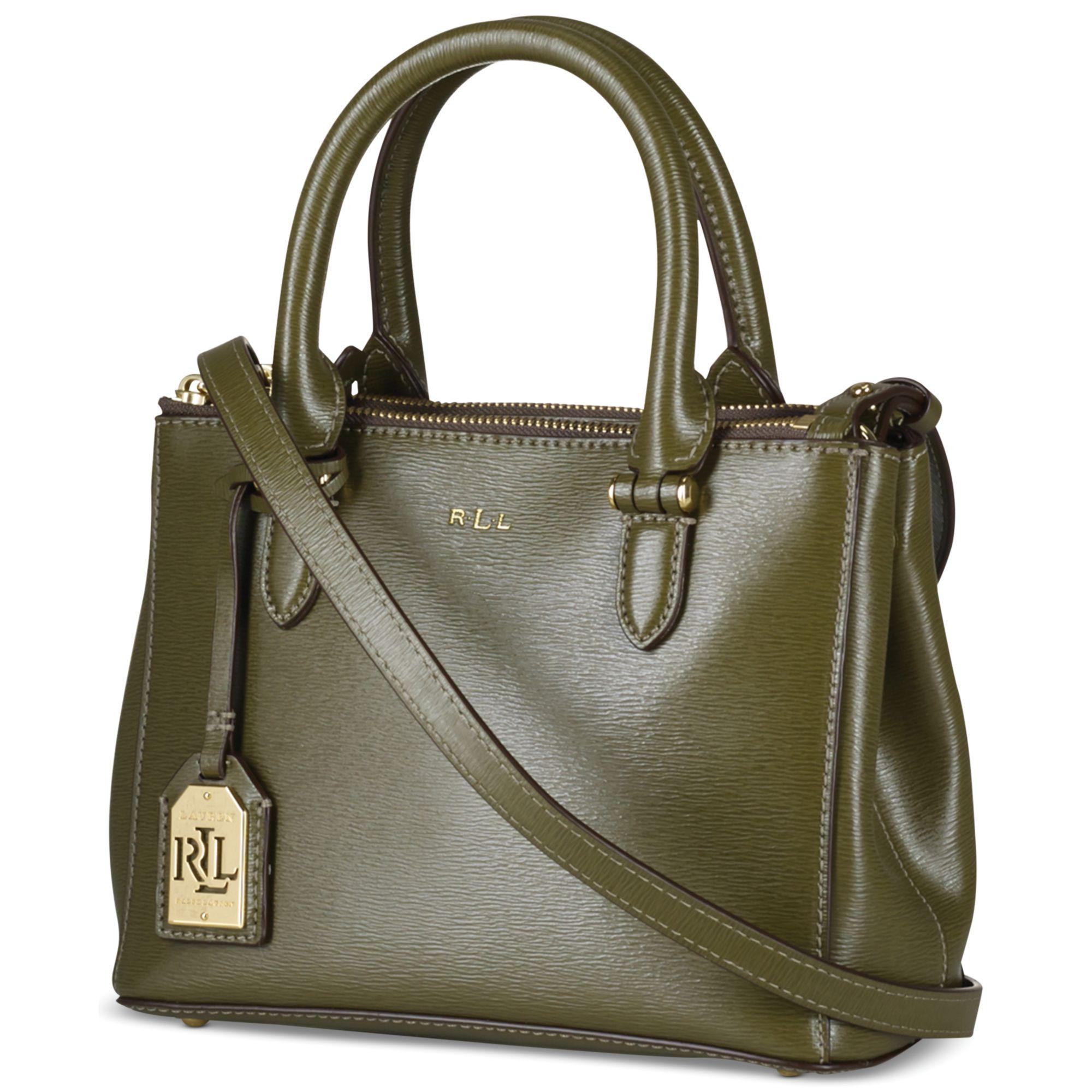 1ed7d126d2b2b Lyst - Lauren by Ralph Lauren Newbury Mini Double Zip Satchel in Green