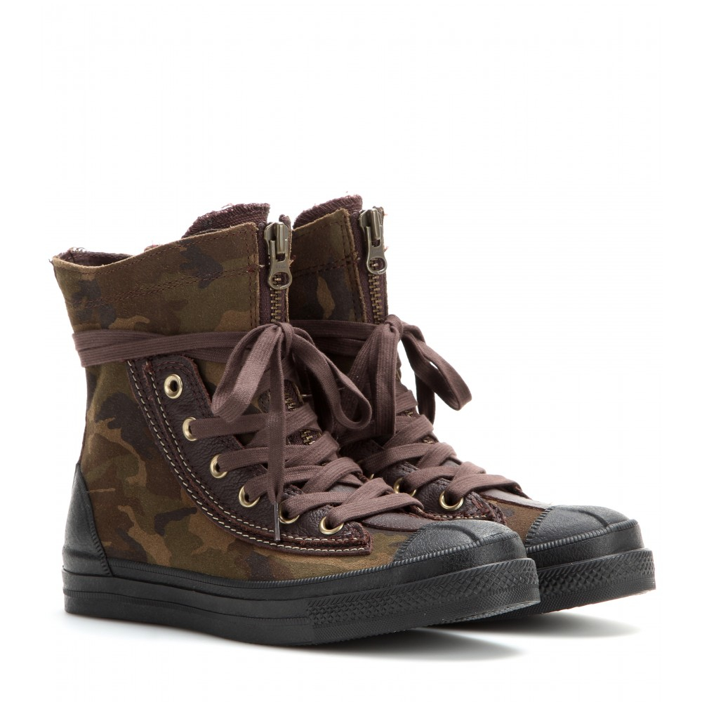 Converse Chuck Taylor All Star Combat Boot High-Top Sneakers in ...