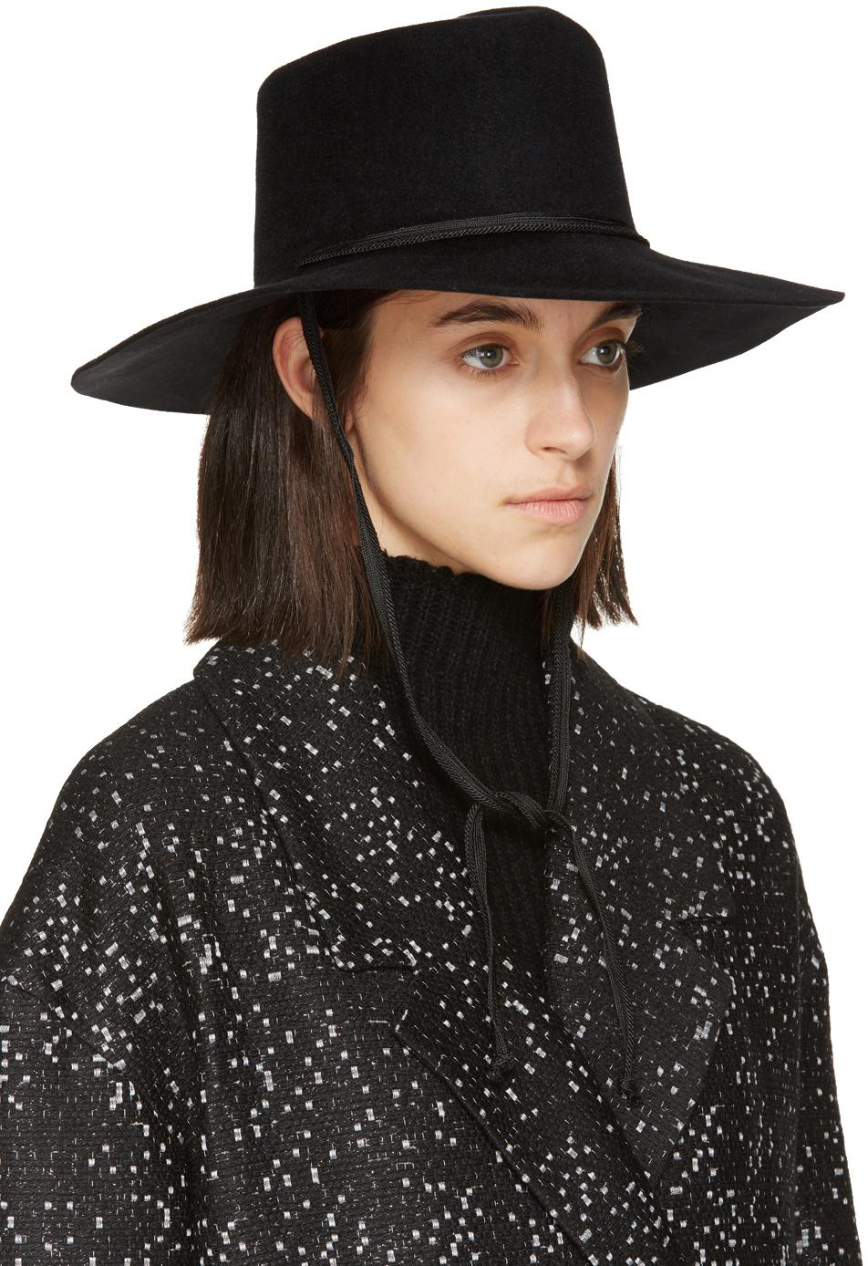 Lyst Clyde Black Felted Fur Gaucho Hat In Black