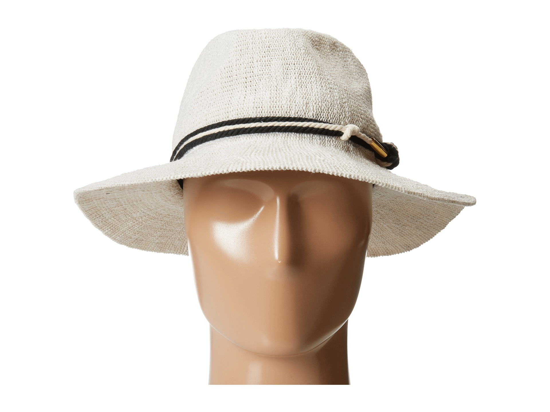 64af277a3 Vince Camuto White Rope Knotted Banded Panama