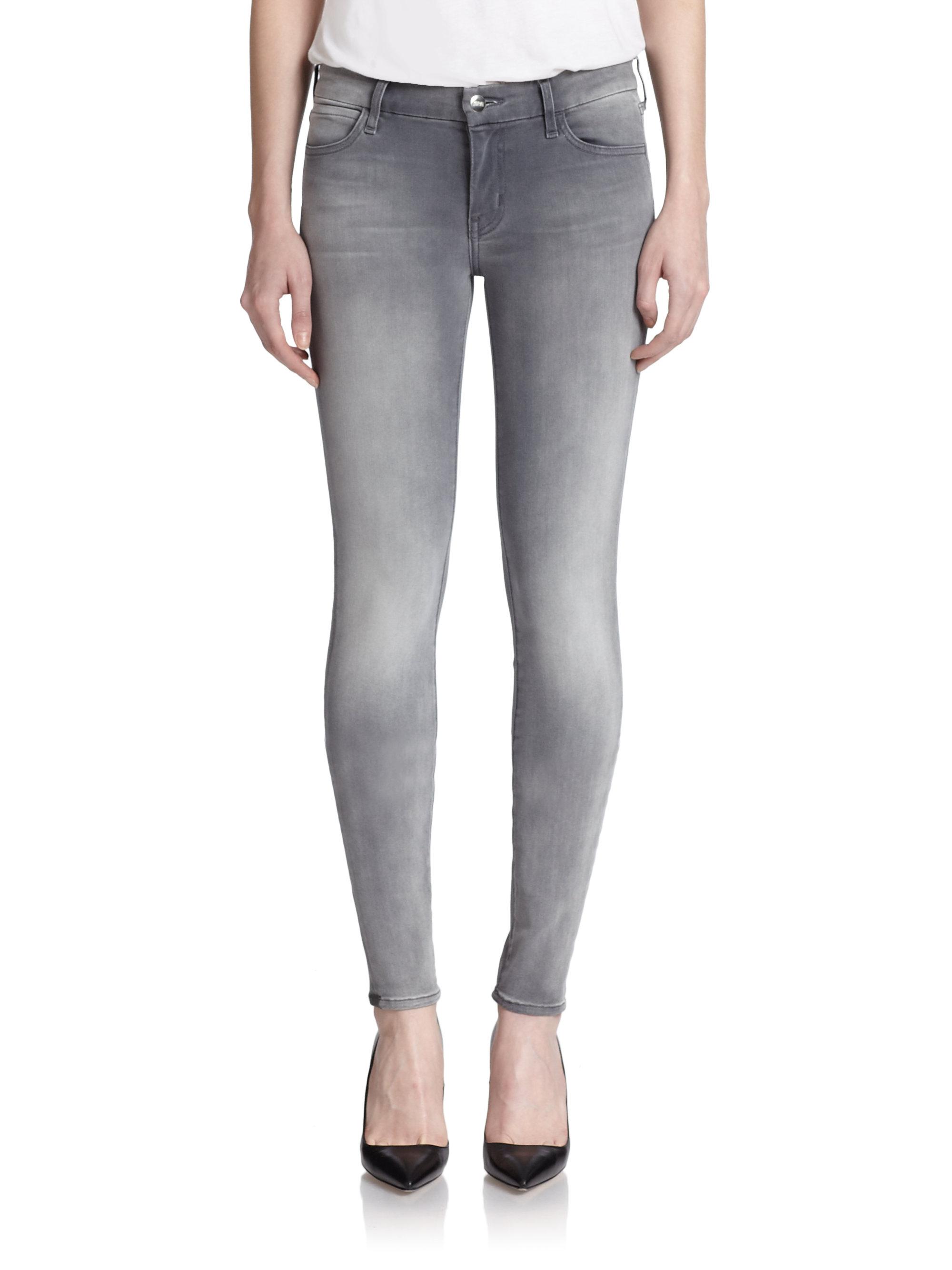 koral grey skinny jeans in gray lyst. Black Bedroom Furniture Sets. Home Design Ideas