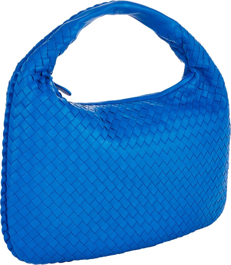 c4d6d5f8ab Bottega Veneta Medium Intrecciato Hobo in Blue - Lyst