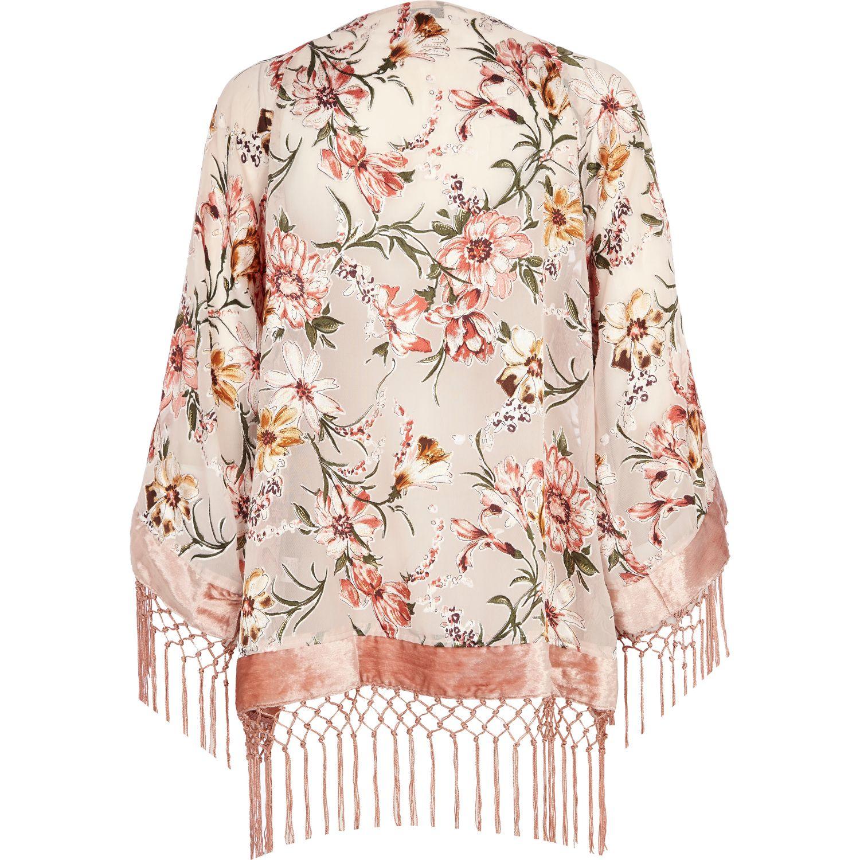 Light Pink Kimono Cardigan Tulips Clothing