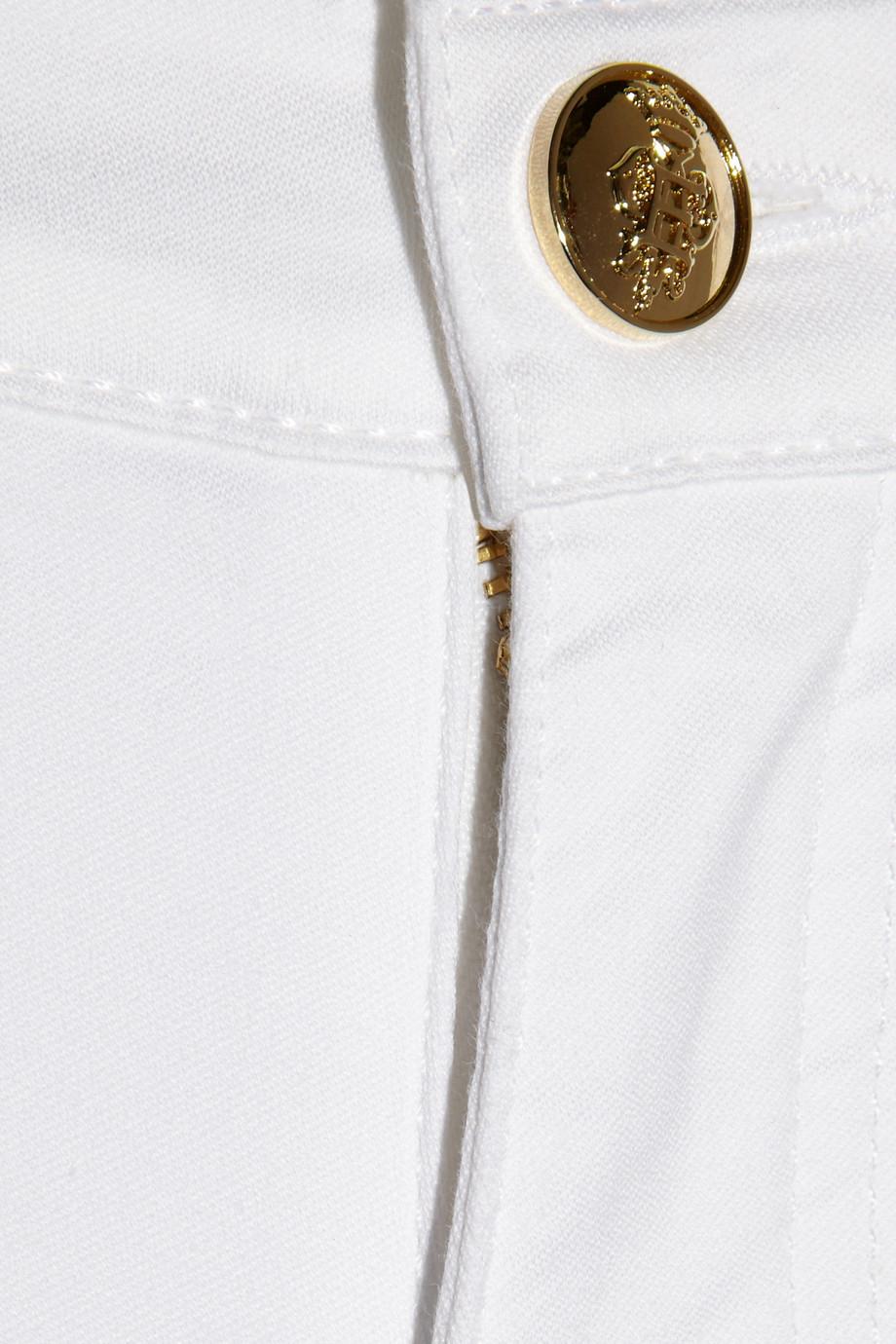 Emilio Pucci Lowrise Flared Jeans in White