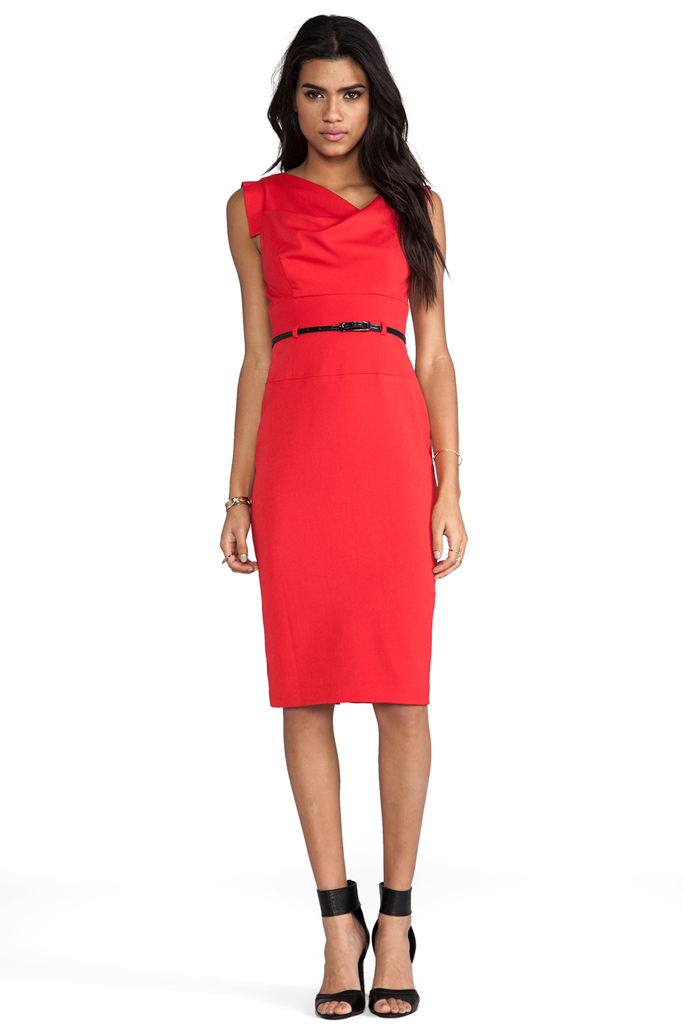 Black Halo Jackie O Dress In Red In Red Lyst