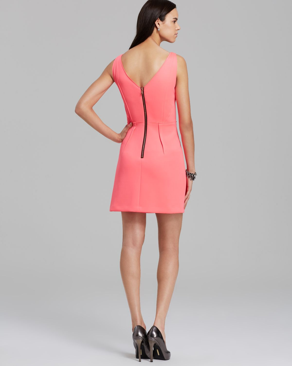 Milly Dress Tech Stretch Shift in Pink  Lyst