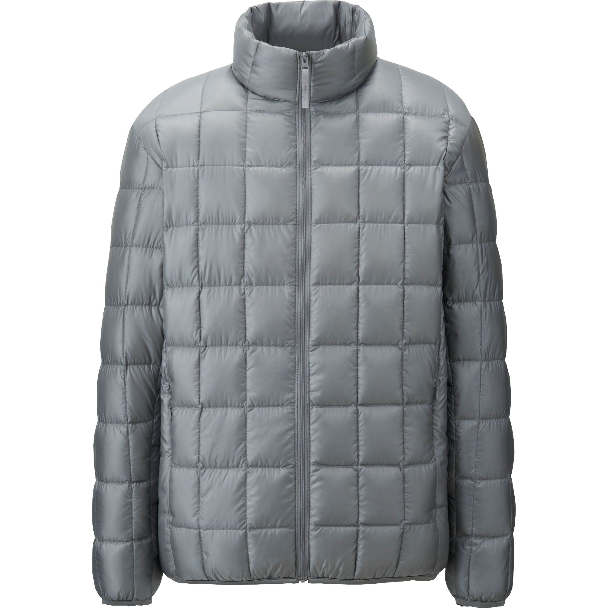 uniqlo ultra light down square quilted jacket in gray for men lyst. Black Bedroom Furniture Sets. Home Design Ideas