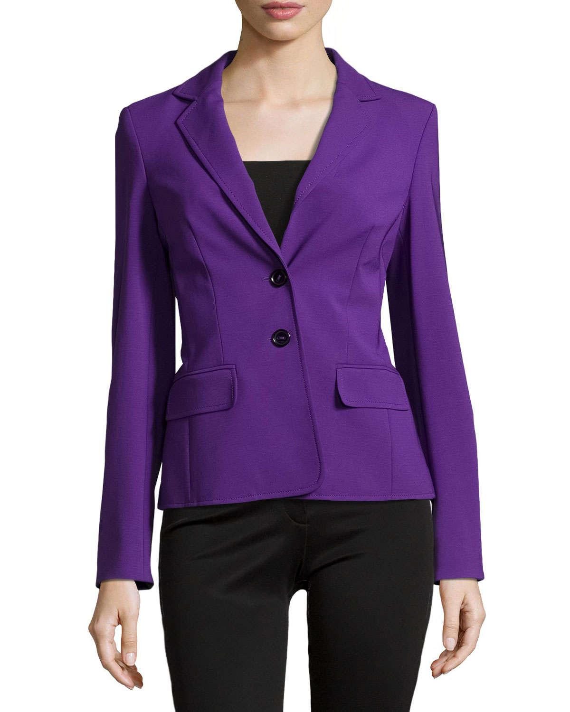 Escada Double-button Front Blazer in Purple