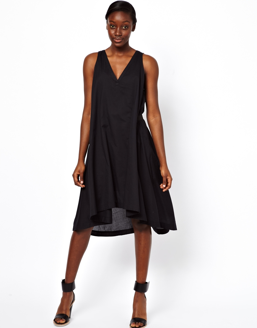 See By Chlo 233 Deep V Cotton Voile Sack Dress With Belt In