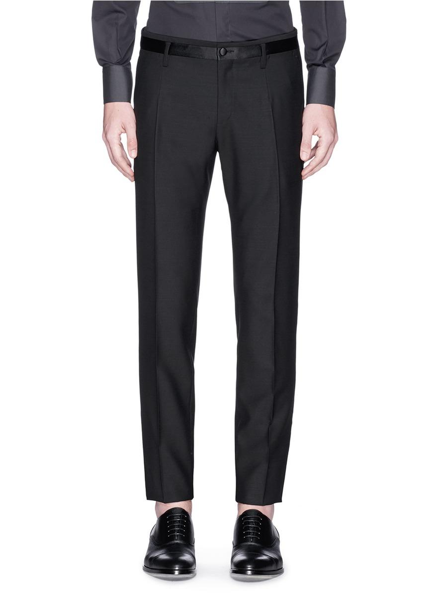 Lyst - Dolce U0026 Gabbana Satin Stripe Tuxedo Pants In Black For Men