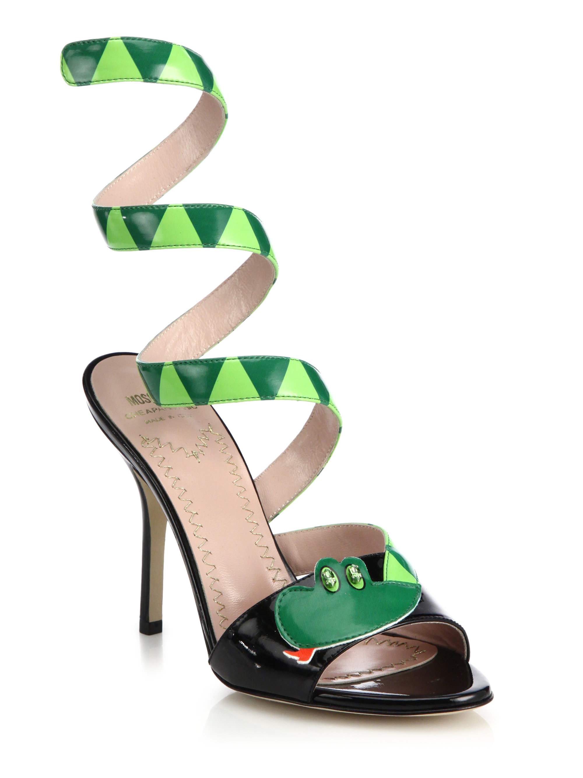 Moschino Patent Leather Sandal oN93wTtMRE