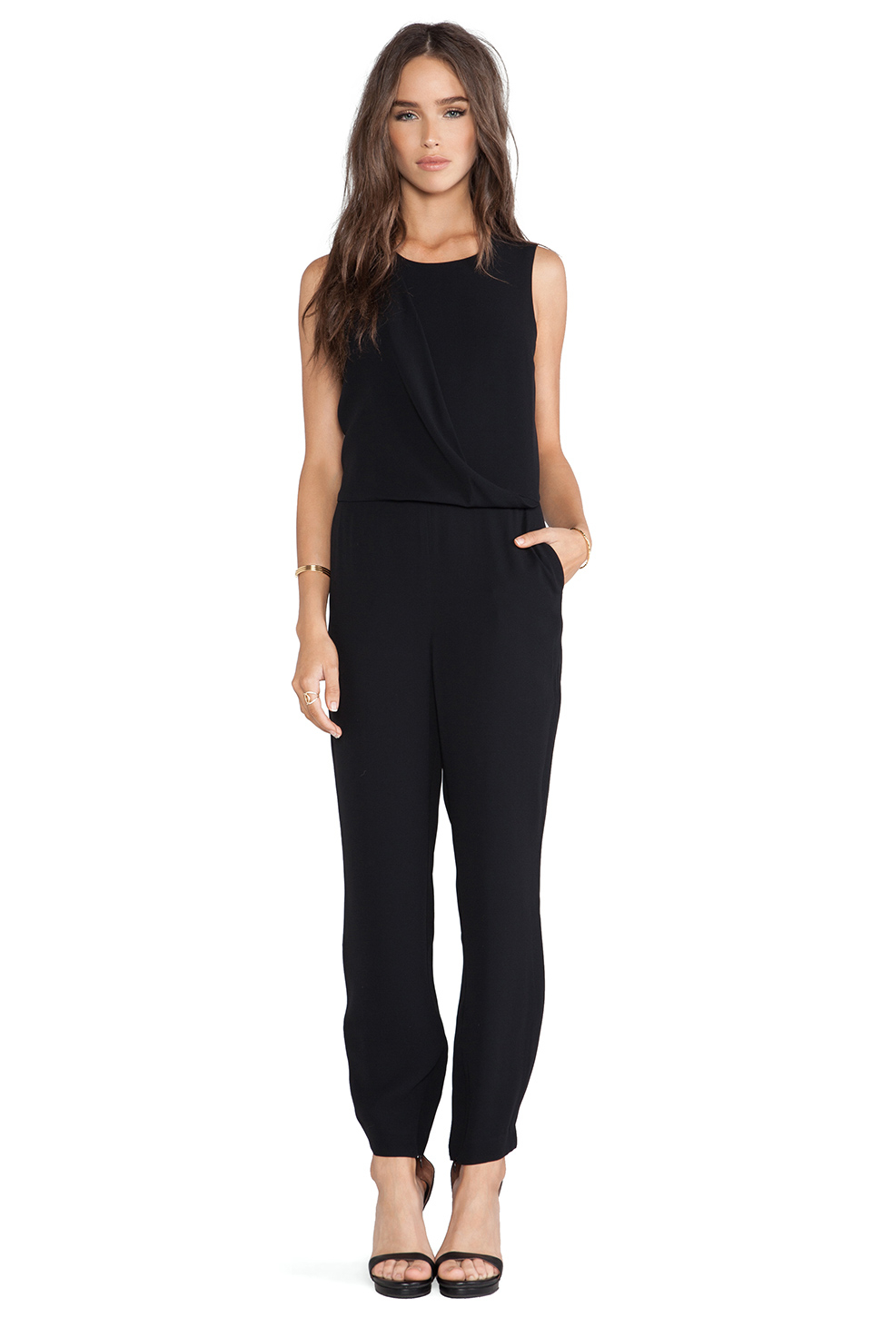 Theory Daimine Jumpsuit In Black Lyst