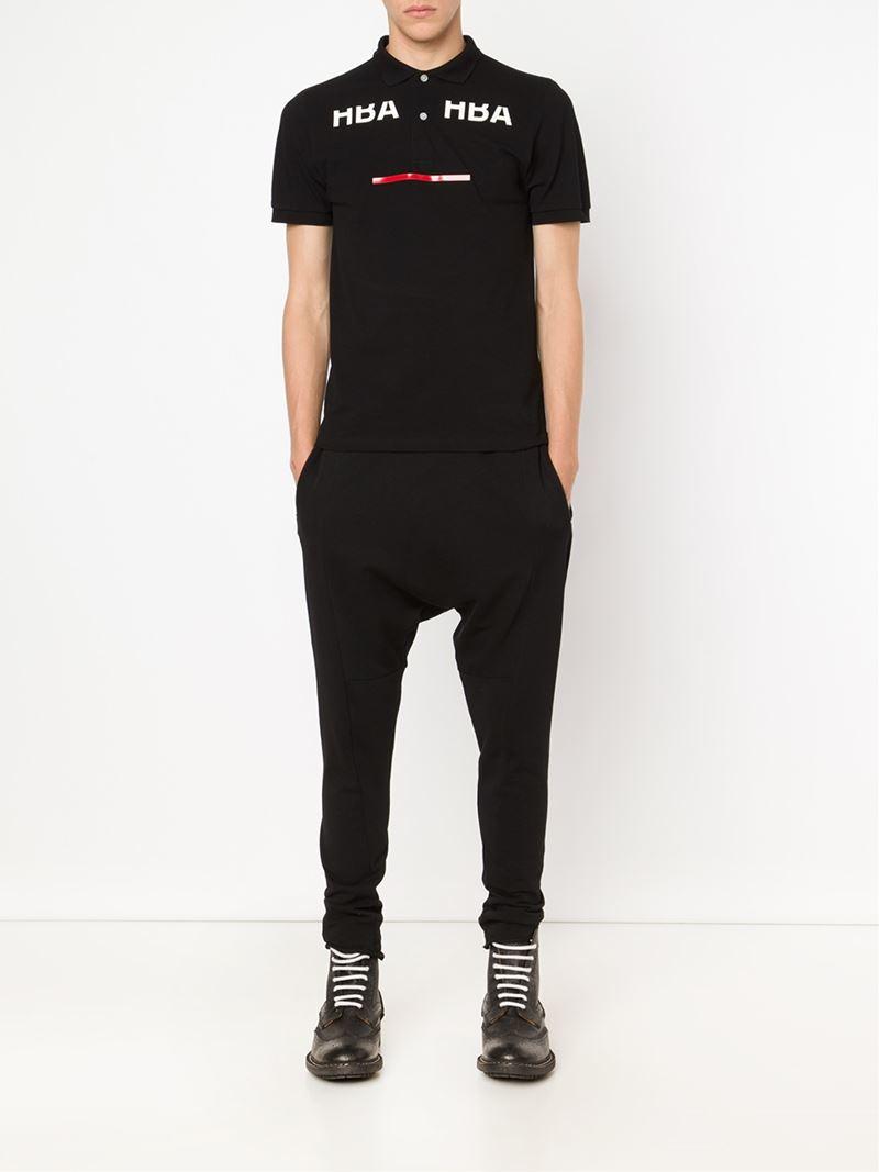 Hood By Air Logo Print Polo Shirt in Black for Men