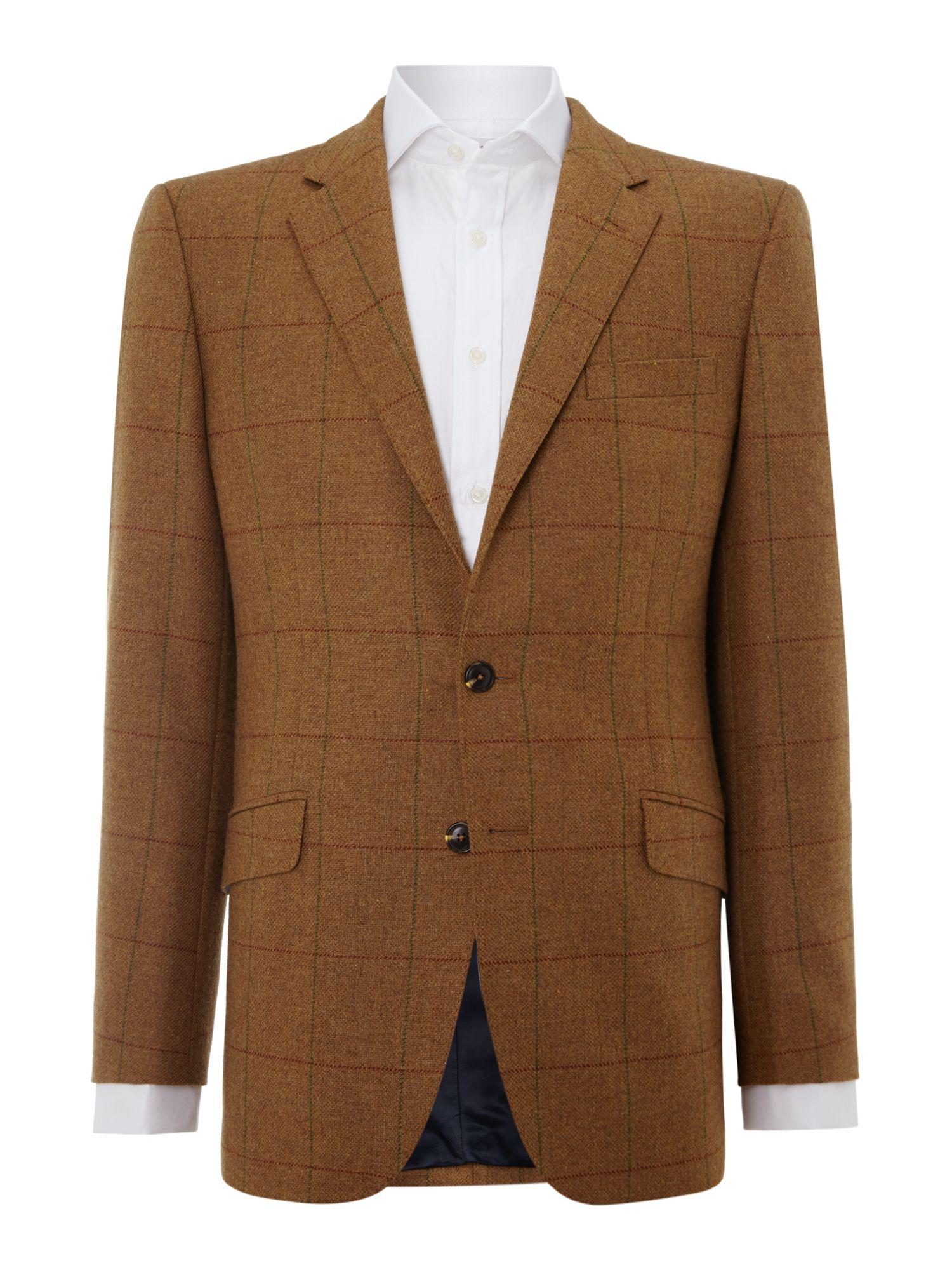 Lyst - Tm Lewin Casual Button Blazer In Brown For Men