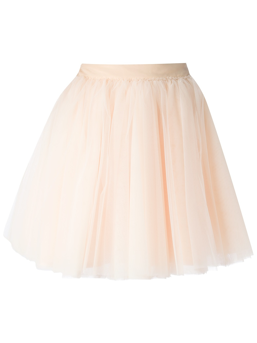 moschino tulle a line skirt in pink lyst
