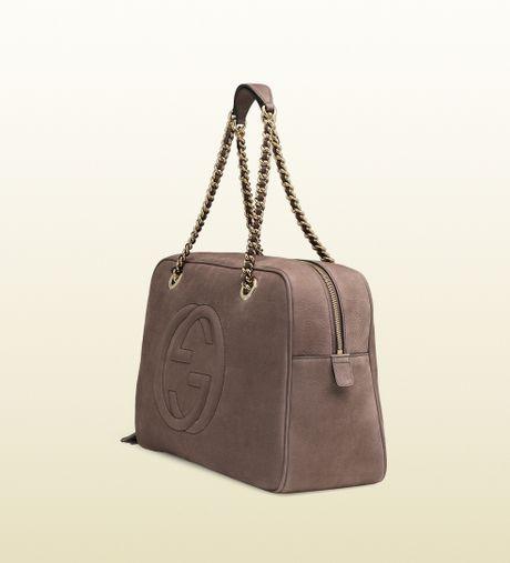 Soho Leather Shoulder Bag Maple Brown 52