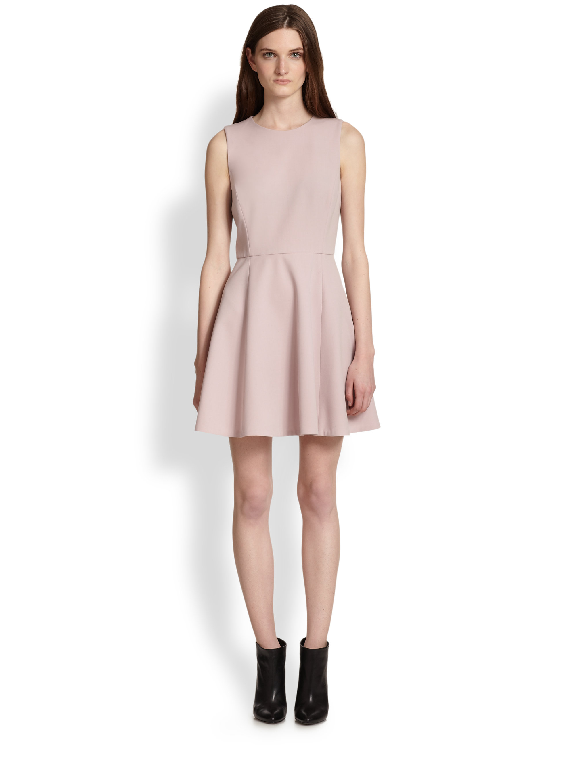 Lyst Theory Tillora Flared Skirt Dress In Pink