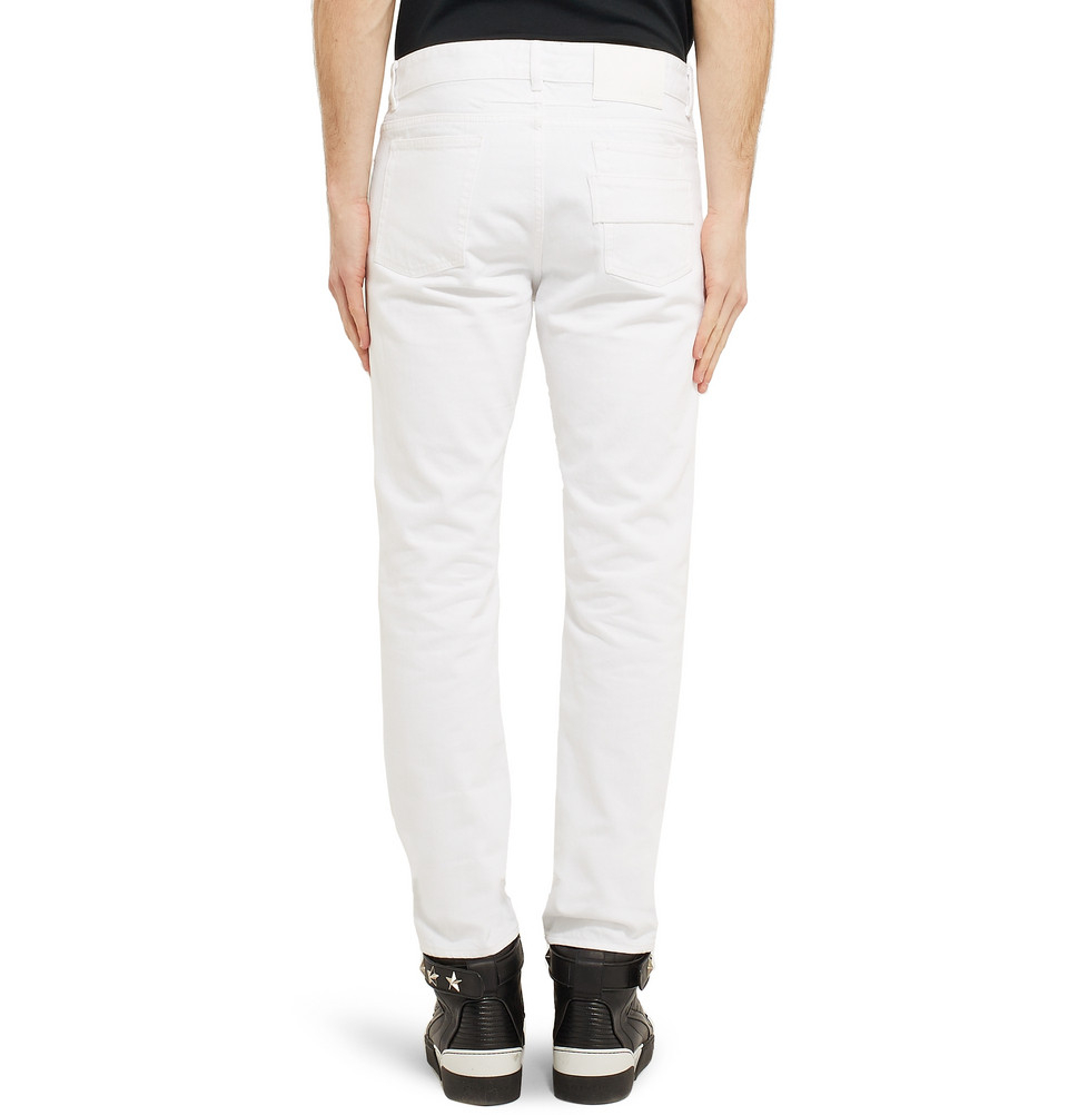 Givenchy Slim-Fit Dry-Denim Jeans in White for Men