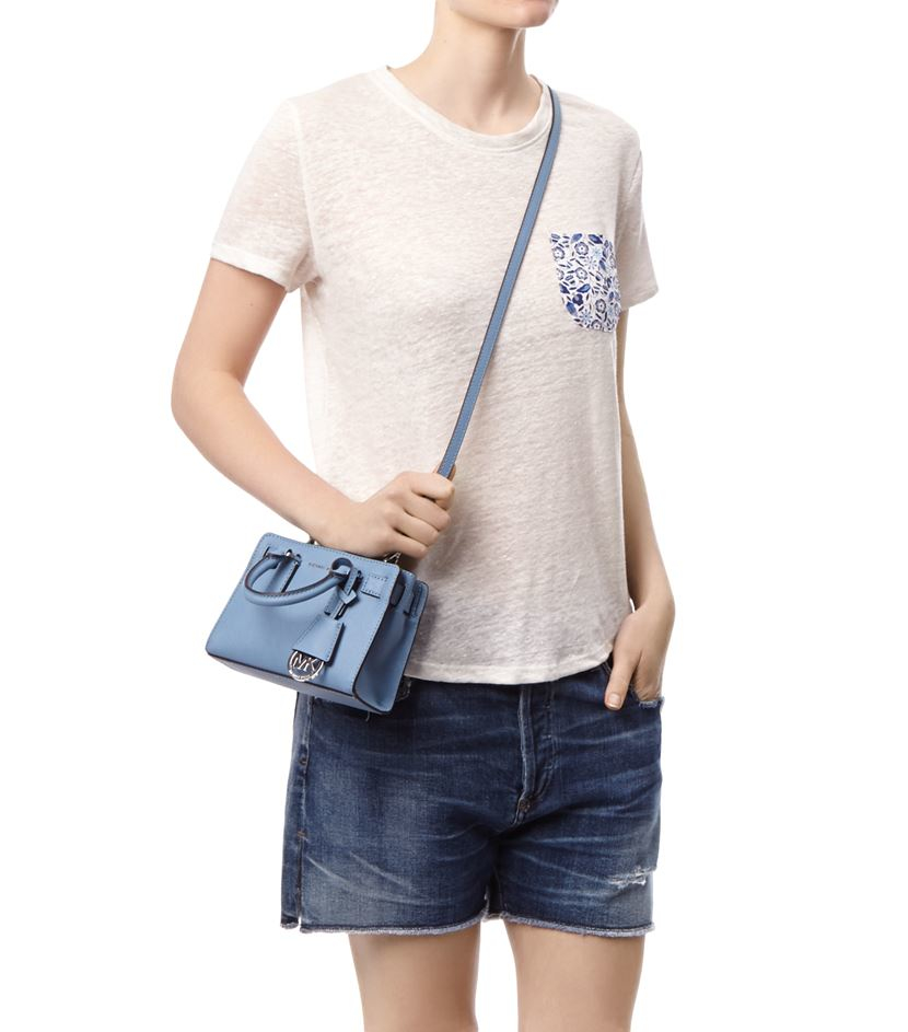 e179524475c5 ... coupon code michael michael kors dillon cross body extra small bag in  blue lyst f7802 998fb
