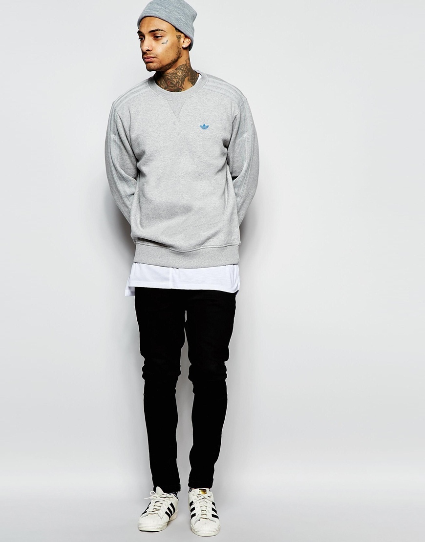 the best attitude 6db57 cf607 Lyst - adidas Originals Sweatshirt With Classic Trefoil Aj7704 in ...
