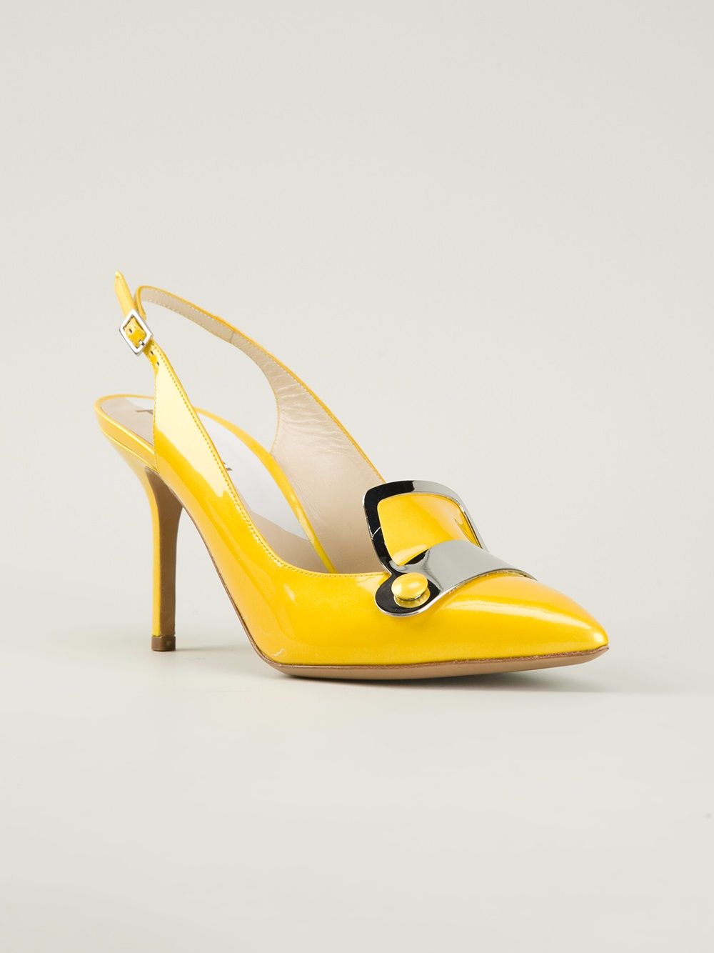 Pollini Slingback Pumps in Yellow | Lyst