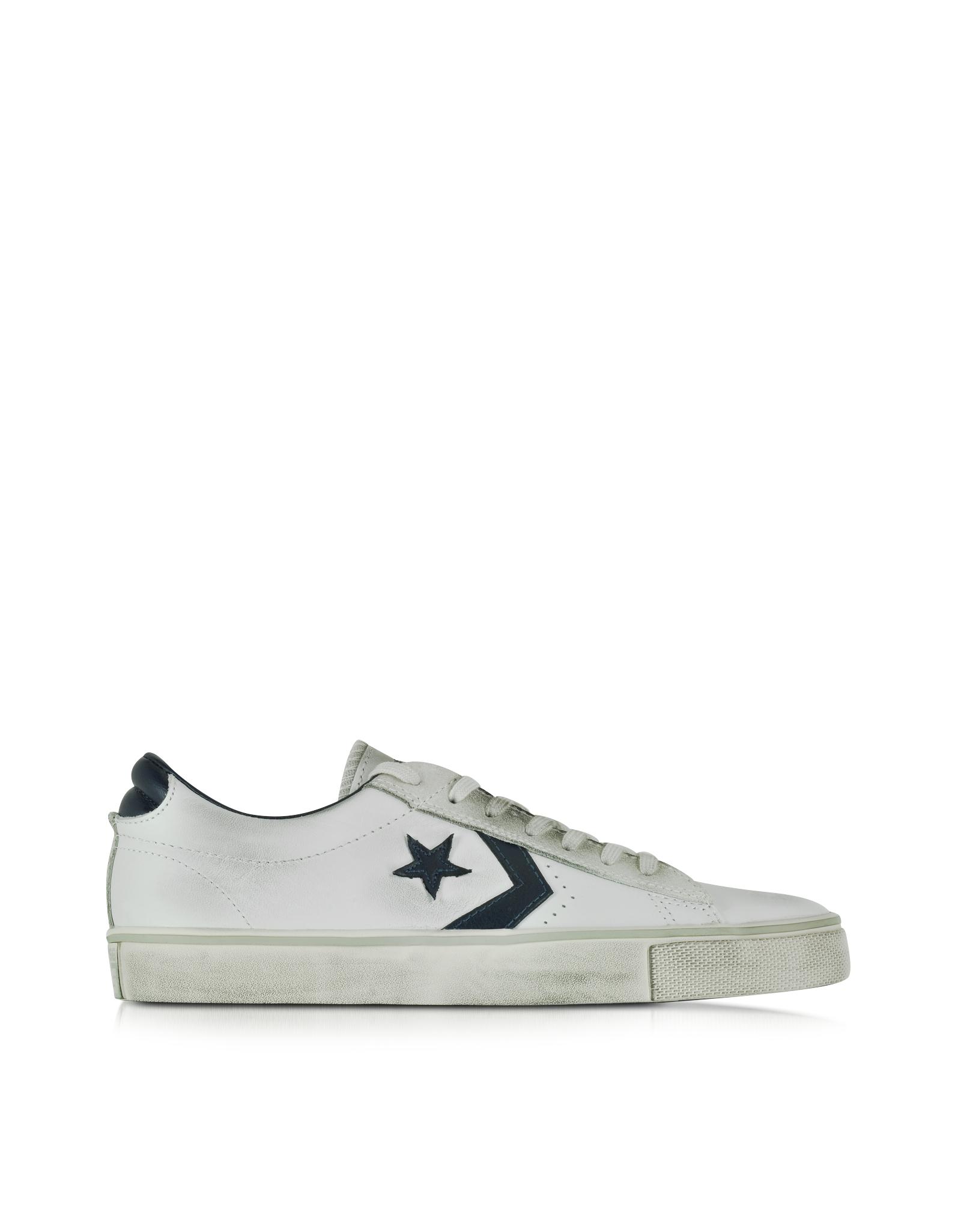converse scarpe pro leather vulc distressed ox