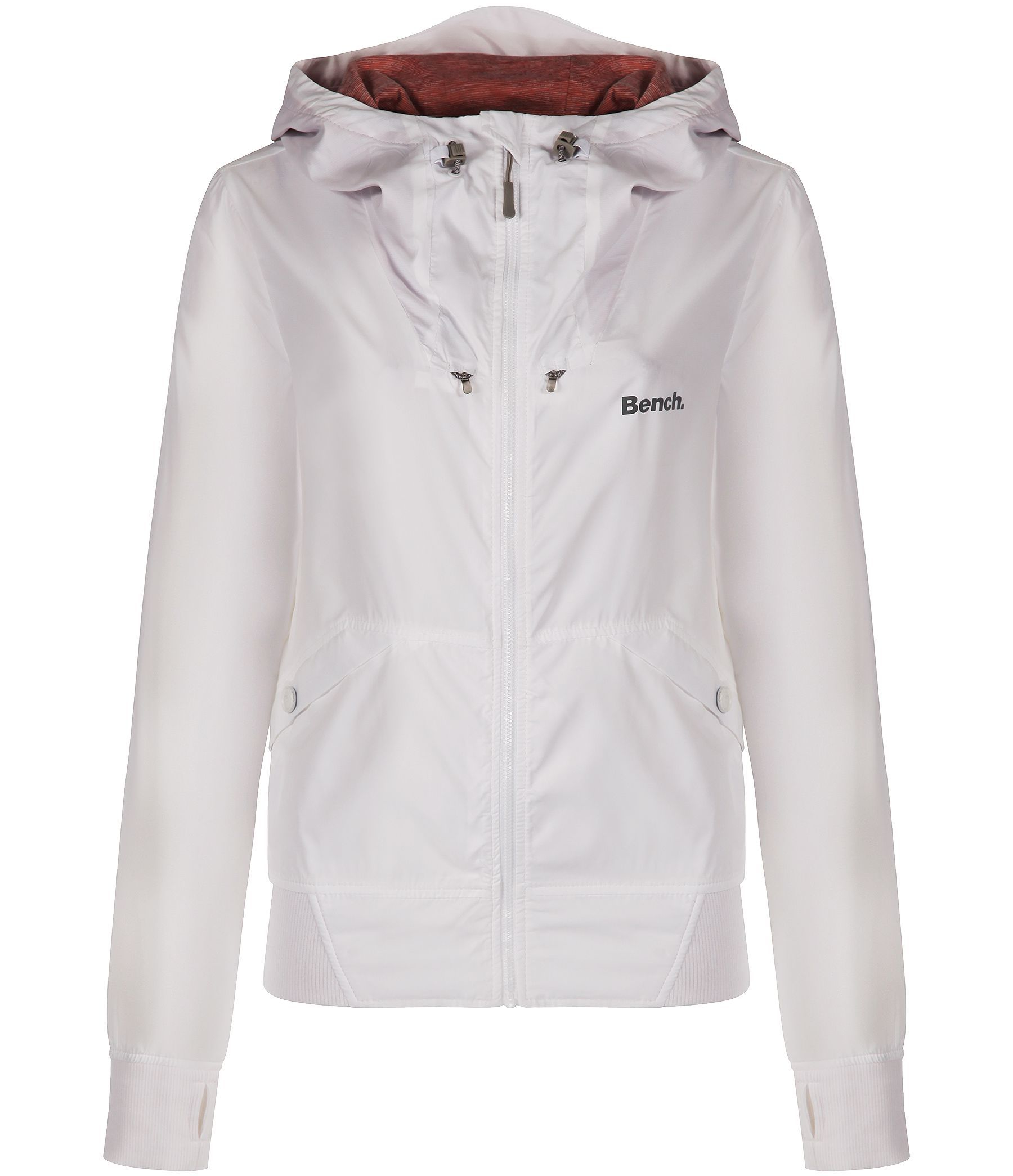 Bench onetimer ii b lightweight shell jacket in white lyst Bench jacket