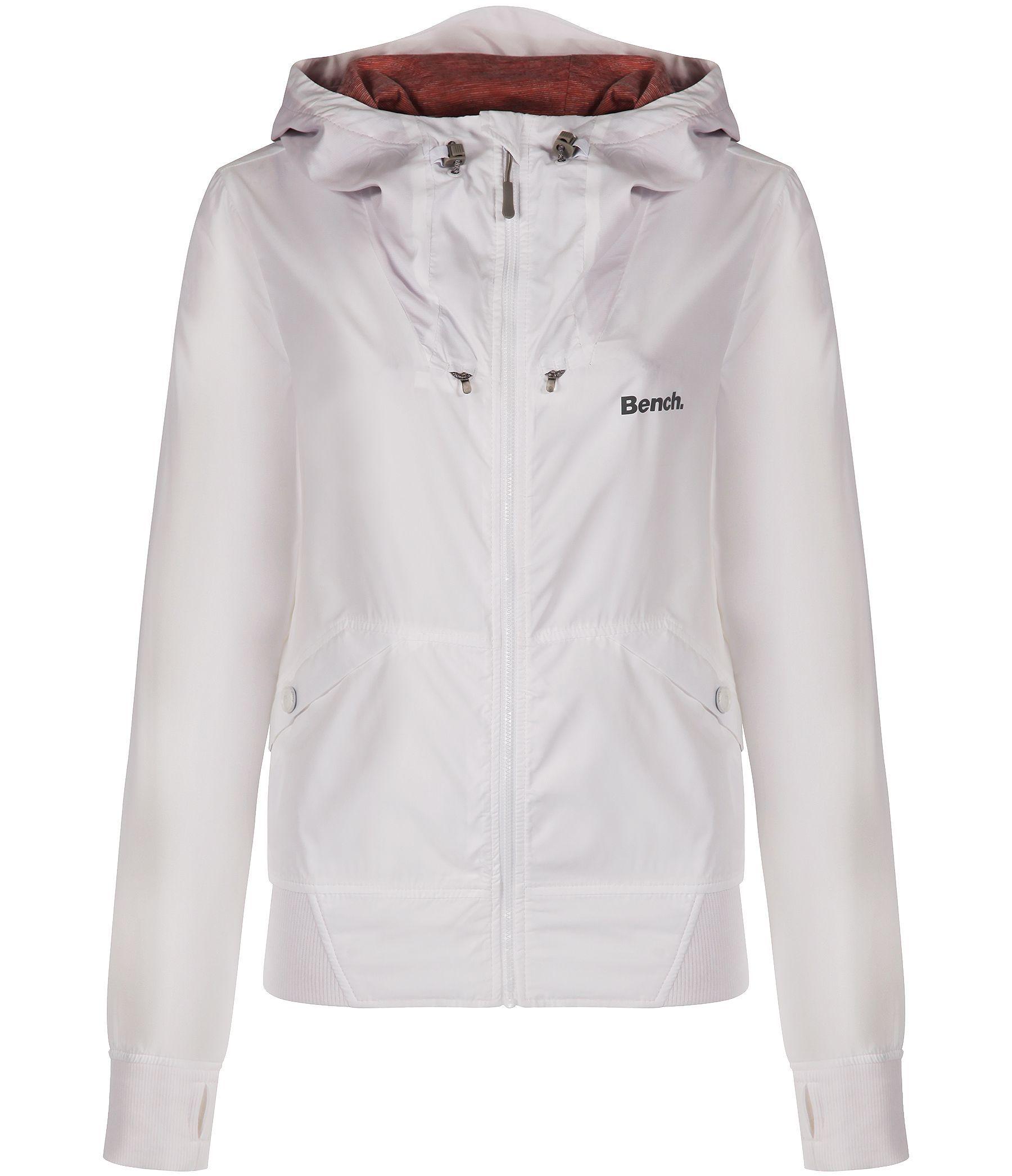 Bench onetimer ii b lightweight shell jacket in white lyst Bench jacket