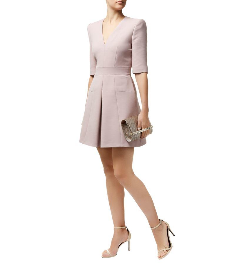 Alexander McQueen Box Pleat Dress in Pink - Lyst 5d275414d