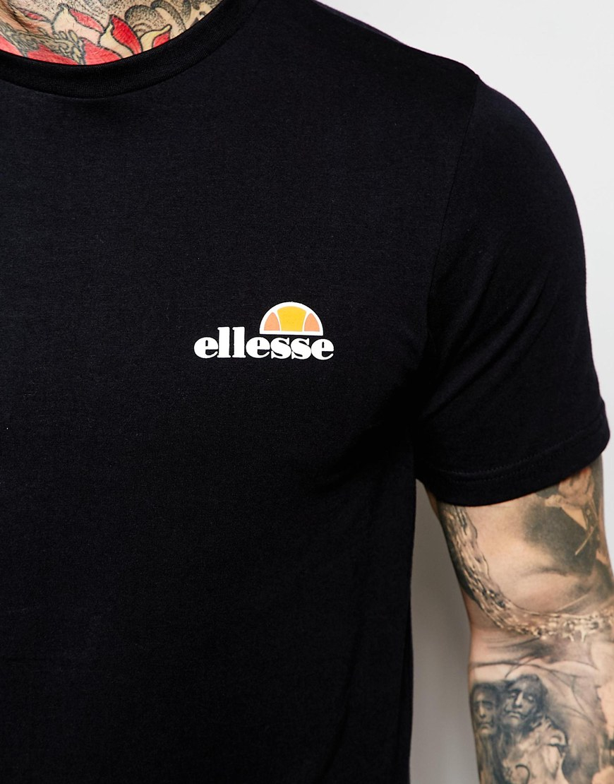 Lyst - Ellesse T-shirt With Small Chest Logo in Black for Men
