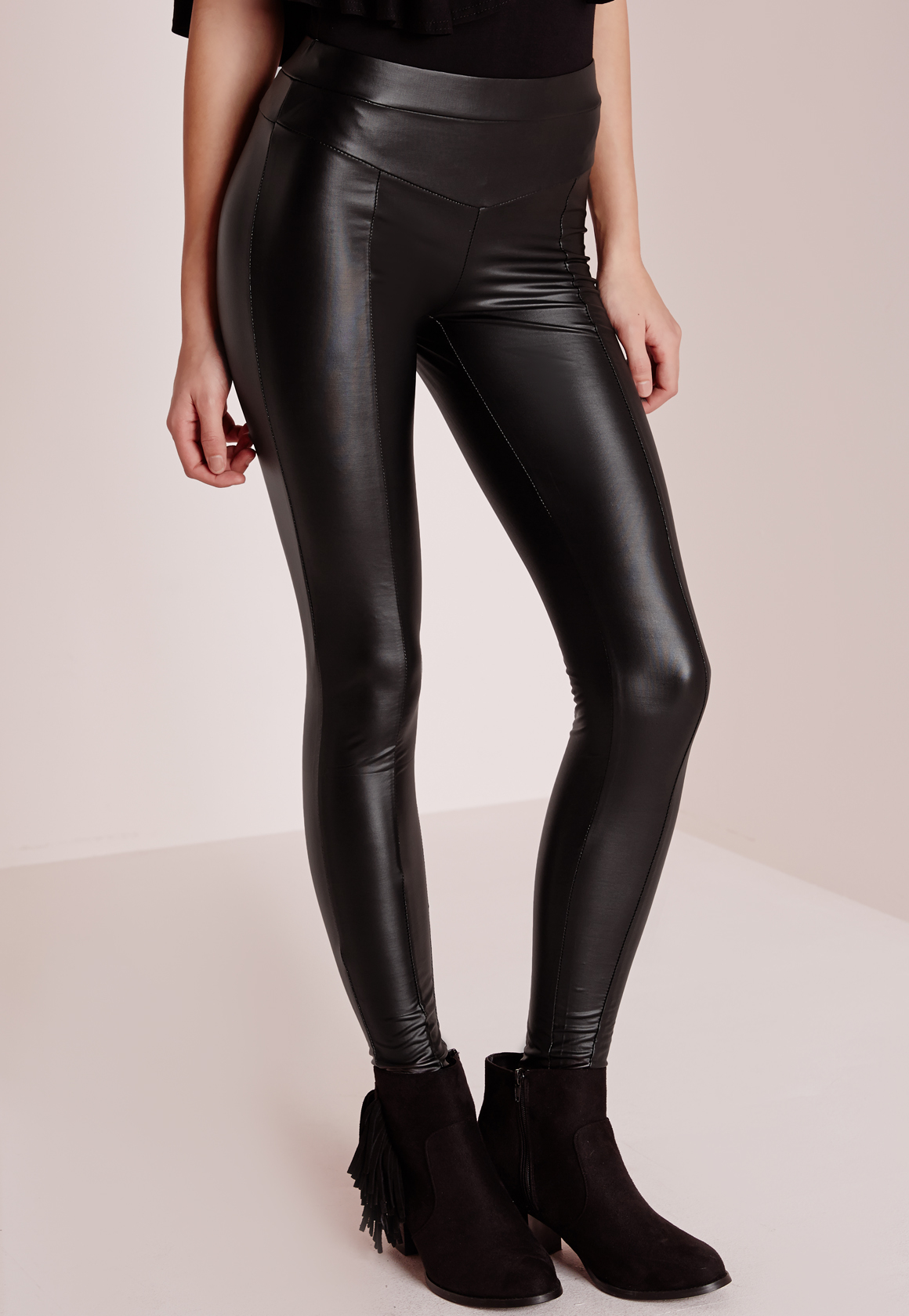 These wet look leggings from V by Very Petite give your look a contemporary, rock feel that's chic, sexy and ultra sleek. Black Wet Look Leggings by V by Very Petite. Wet look leggings.