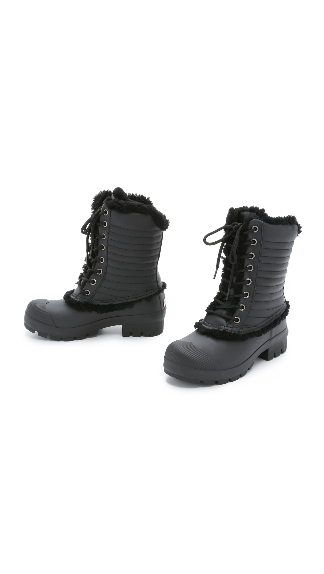 Lyst Hunter Shearling Pac Boots In Black
