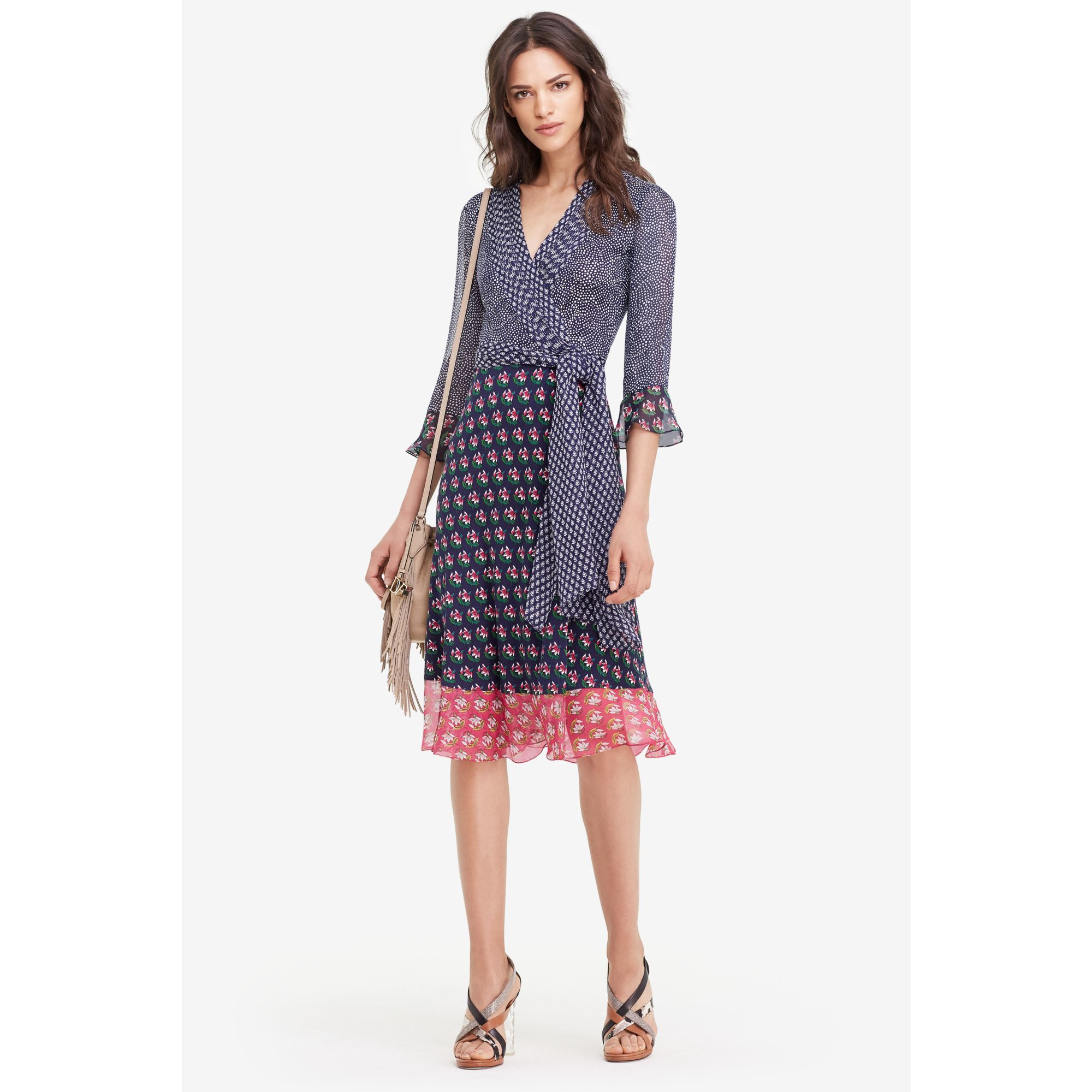 diane von furstenberg nieves silk and chiffon wrap dress