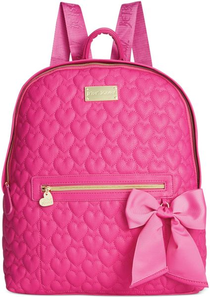 Betsey Johnson Quilted Backpack In Pink Pink Quilted Lyst