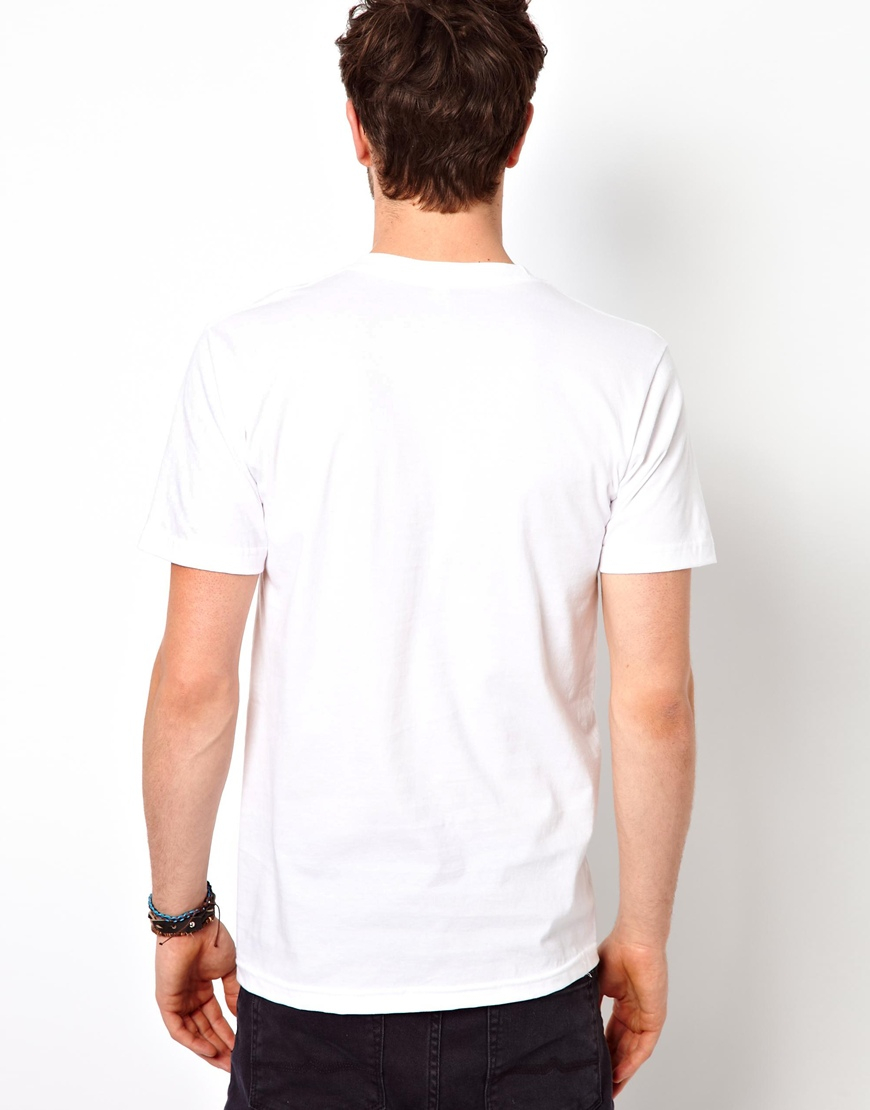 American apparel t shirt in white for men lyst for American apparel t shirt design