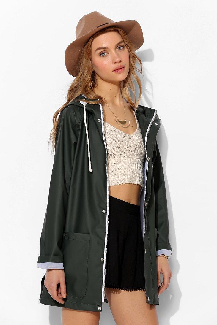 Bdg Fisherman Rain Slicker Jacket in Green | Lyst