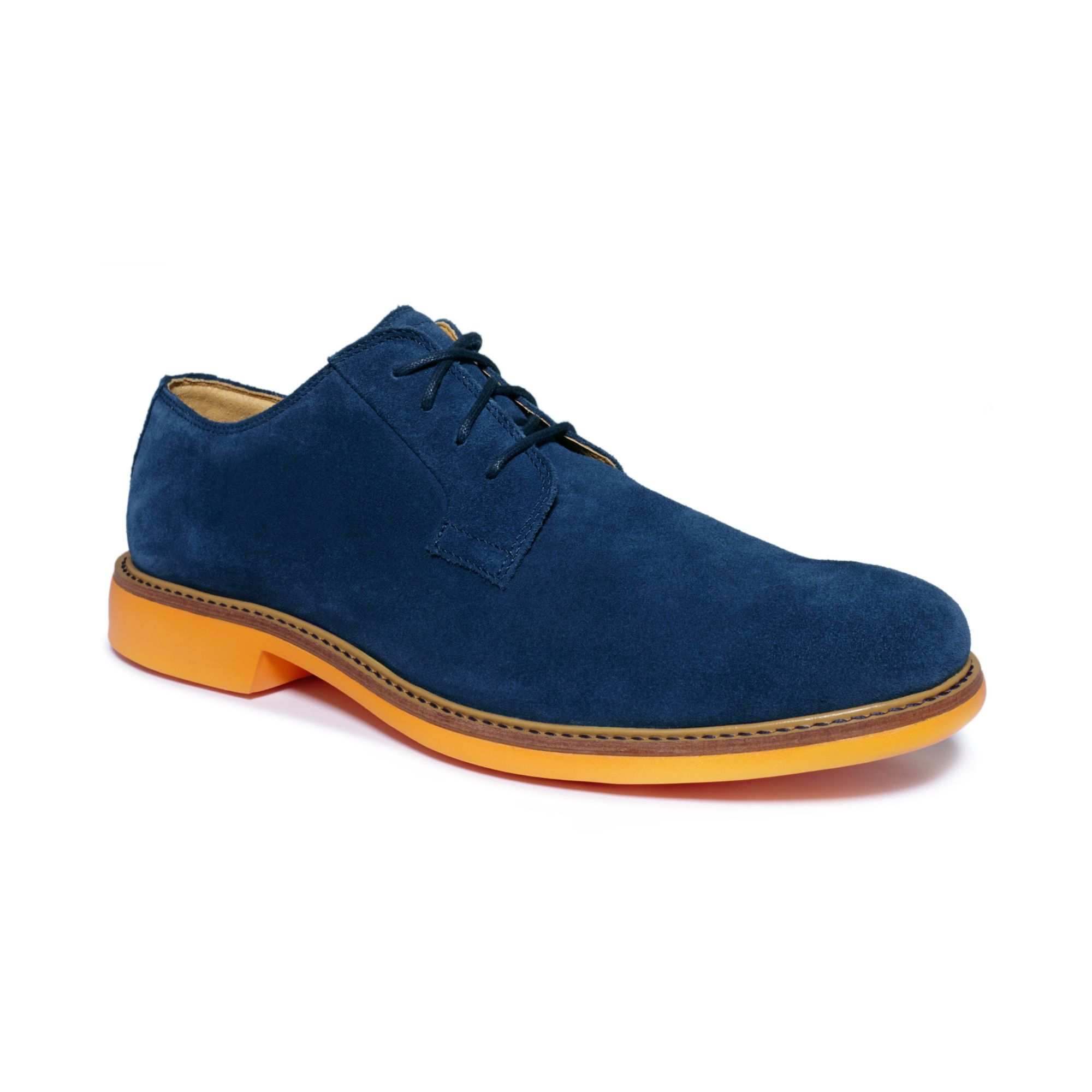 cole haan great jones plain toe shoes in orange for