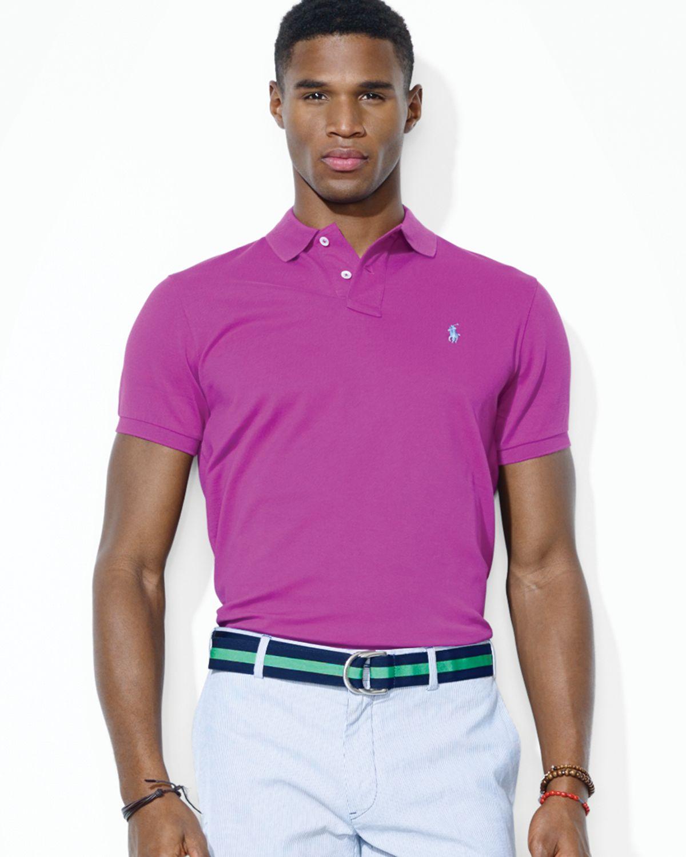 Stretch Fit For Custom Purple Polo Mesh Men Shirt Lauren Slim Ralph eWQxBrdoC