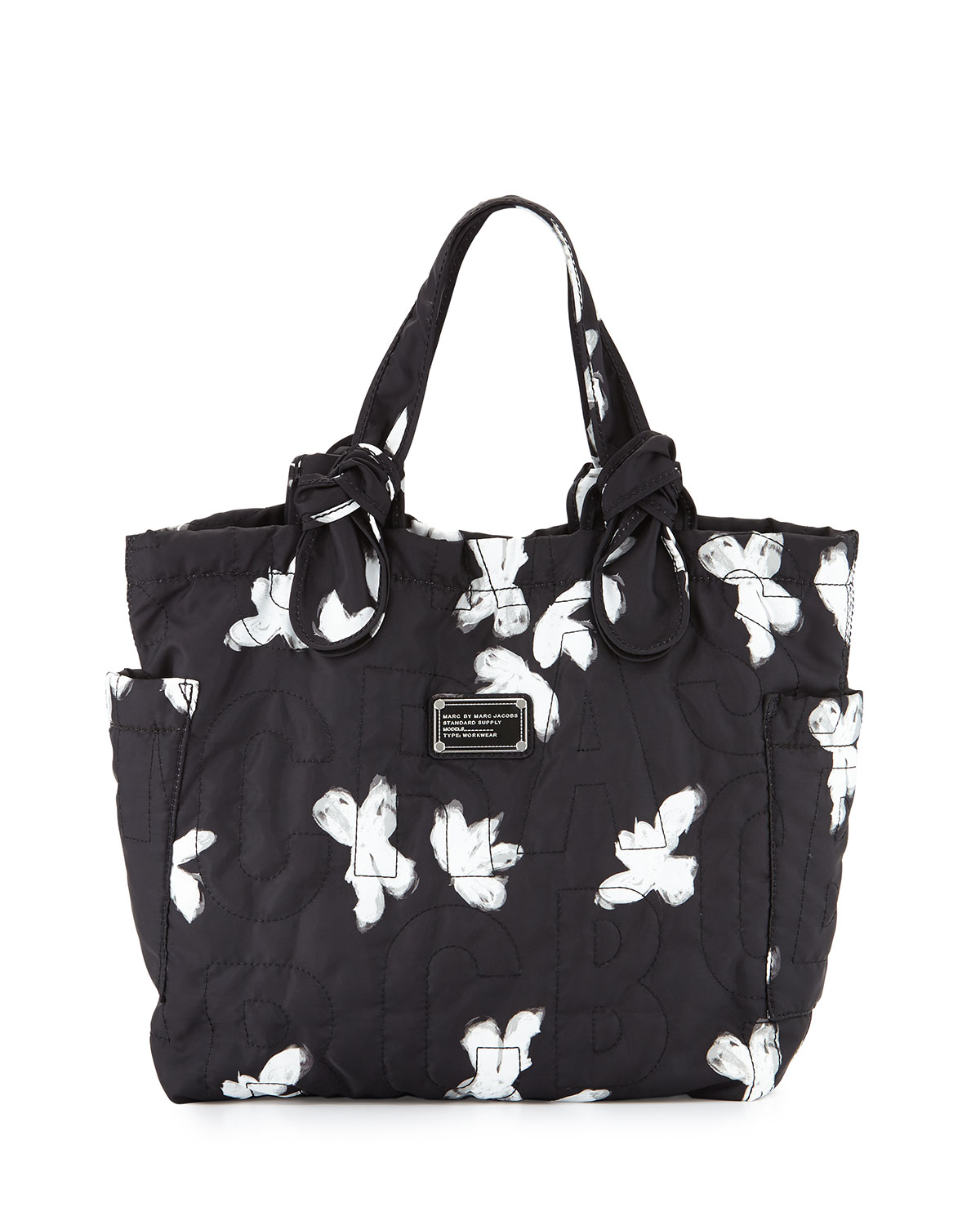 Lyst - Marc by marc jacobs Pretty Nylon Tate Medium Tote Bag in Black : marc by marc jacobs quilted tote - Adamdwight.com
