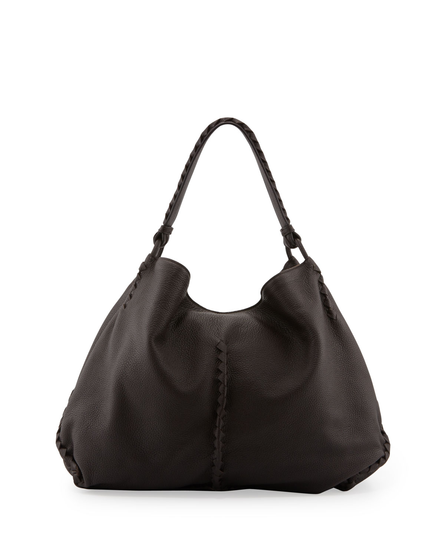 Lyst - Bottega Veneta Xl Cervo Shoulder Bag in Brown 50036cb4d209b