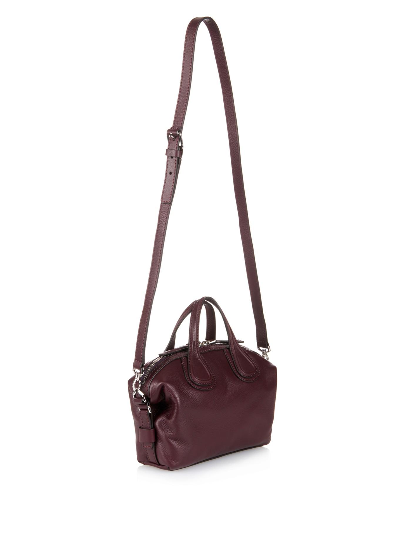 373633c36cbb Lyst - Givenchy Nightingale Mini Leather Cross-Body Bag in Purple
