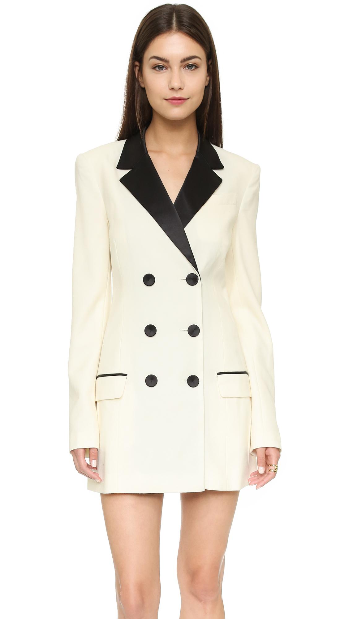 Rachel Zoe Tuxedo Dress In White Lyst
