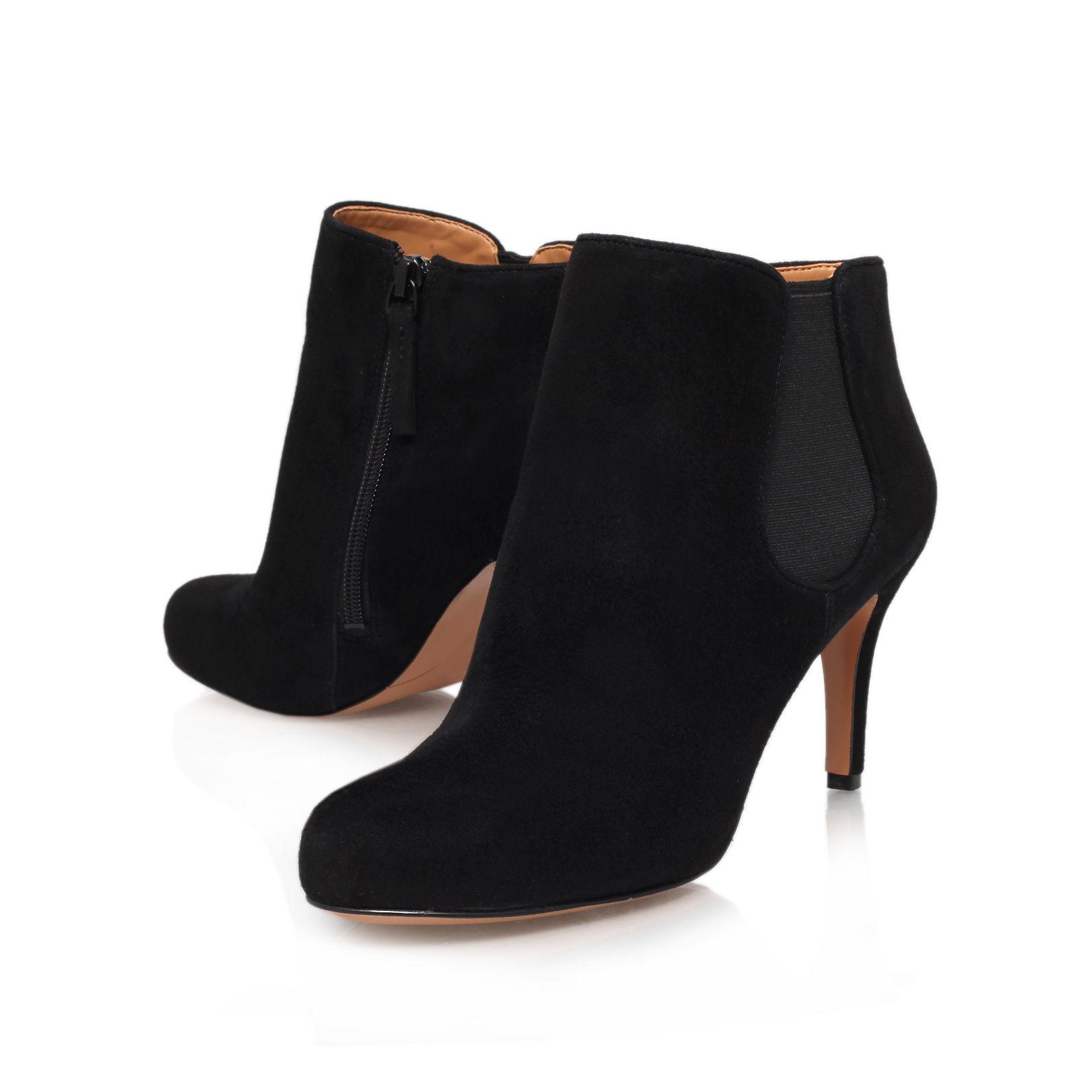 nine west rallify mid heel boots in black lyst