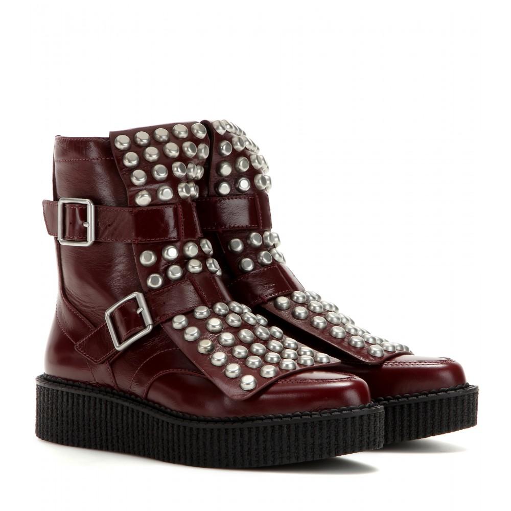Marc By Marc Jacobs Bowery Embellished Leather Boots In